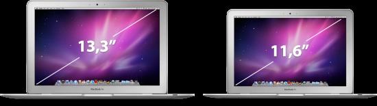 MacBooks Air de 13,3 e 11,6 polegadas