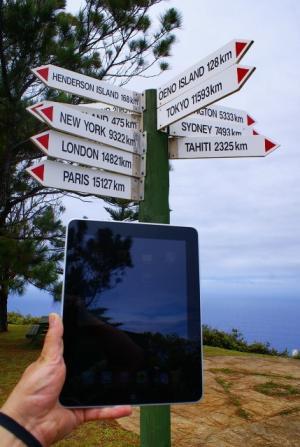iPad nas Ilhas Pitcairn