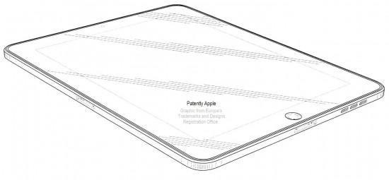 Patente europeia de iPad com dois docks