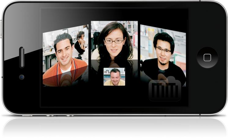 FaceTime grupal no iPhone 4