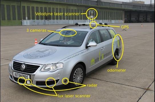Táxi autônomo da AutoNOMOS Labs