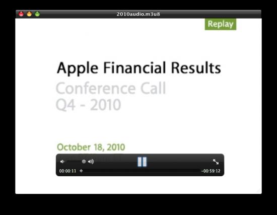 Resultados financeiros da Apple - Q4 2010