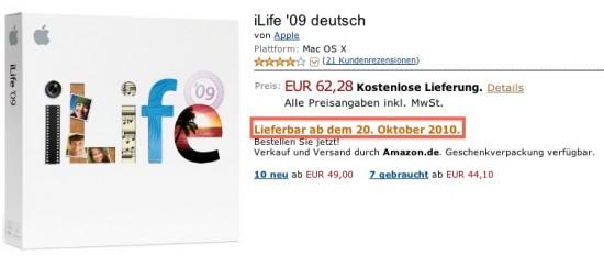 iLife enviado em 20 de outubro, na Amazon.com?