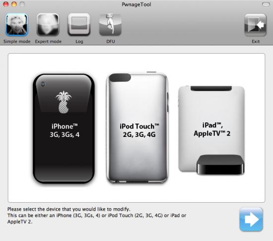 Nova PwnageTool, com iPad e Apple TV