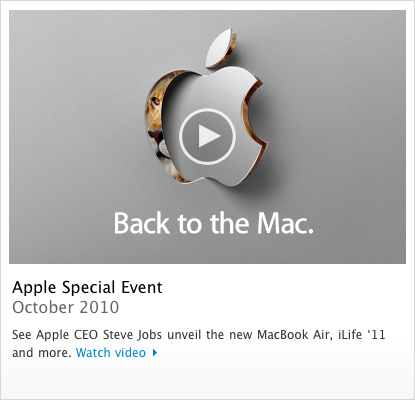 Stream de vídeo do evento Back to the Mac