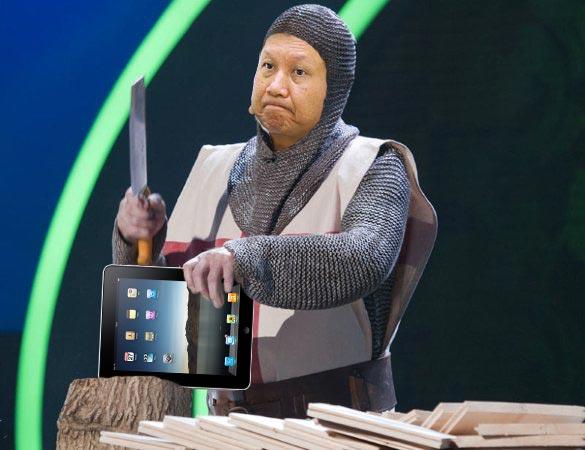 JT Wang, presidente da Acer, e um iPad - MacStories