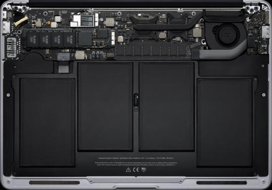 Visão interna do novo MacBook Air