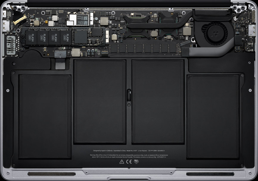 Visão interna do novo MacBook Air