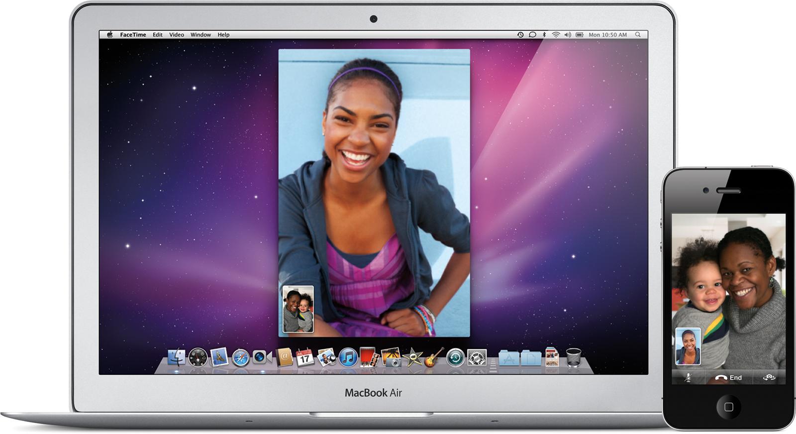 FaceTime para Mac no MacBook Air e no iPod touch 4G