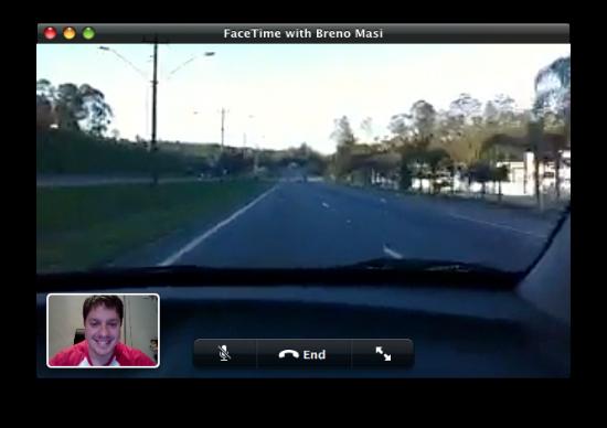 FaceTime do Mac via iPhone 4