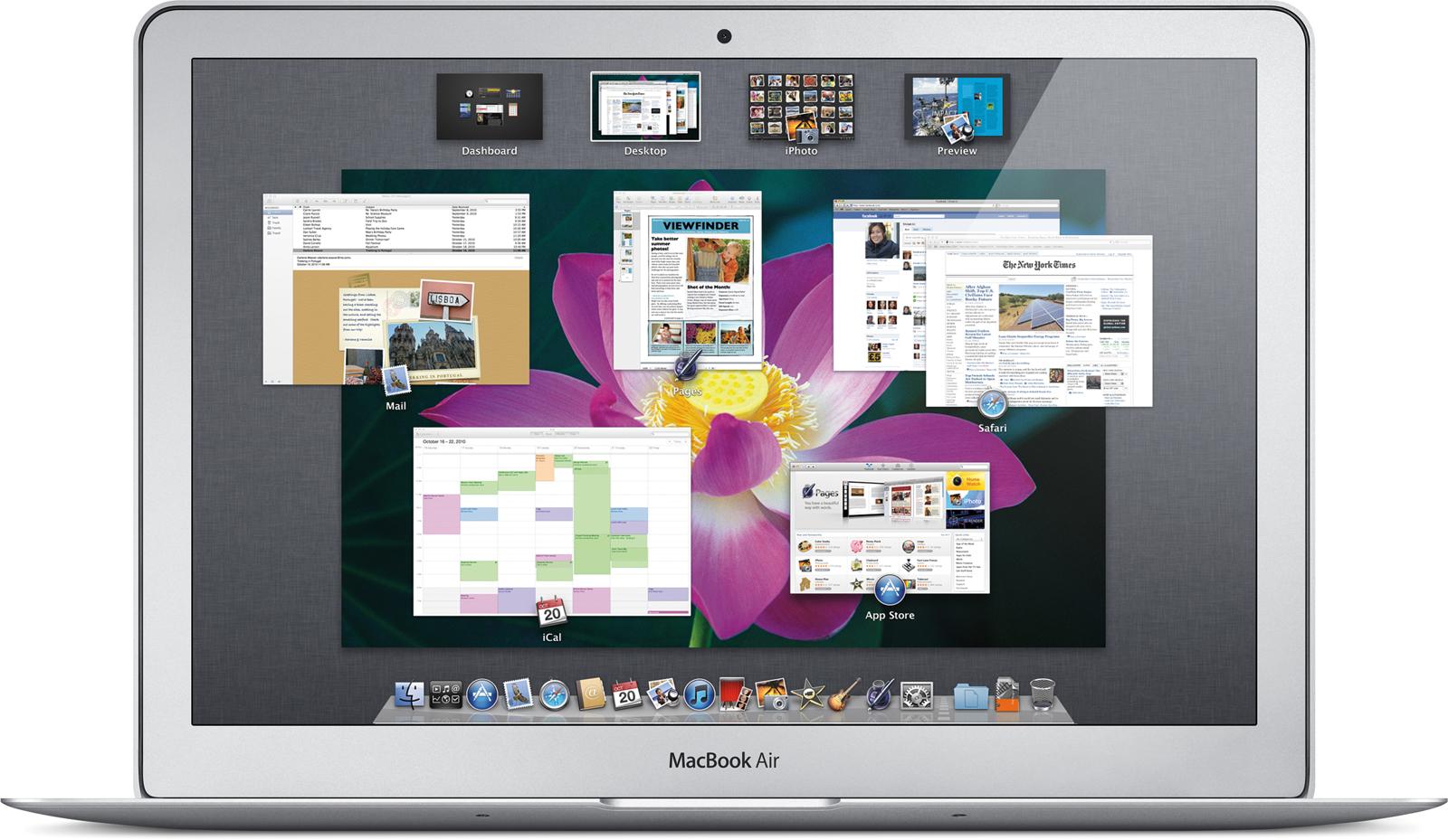 Mac OS X 10.7 Lion no MacBook Air