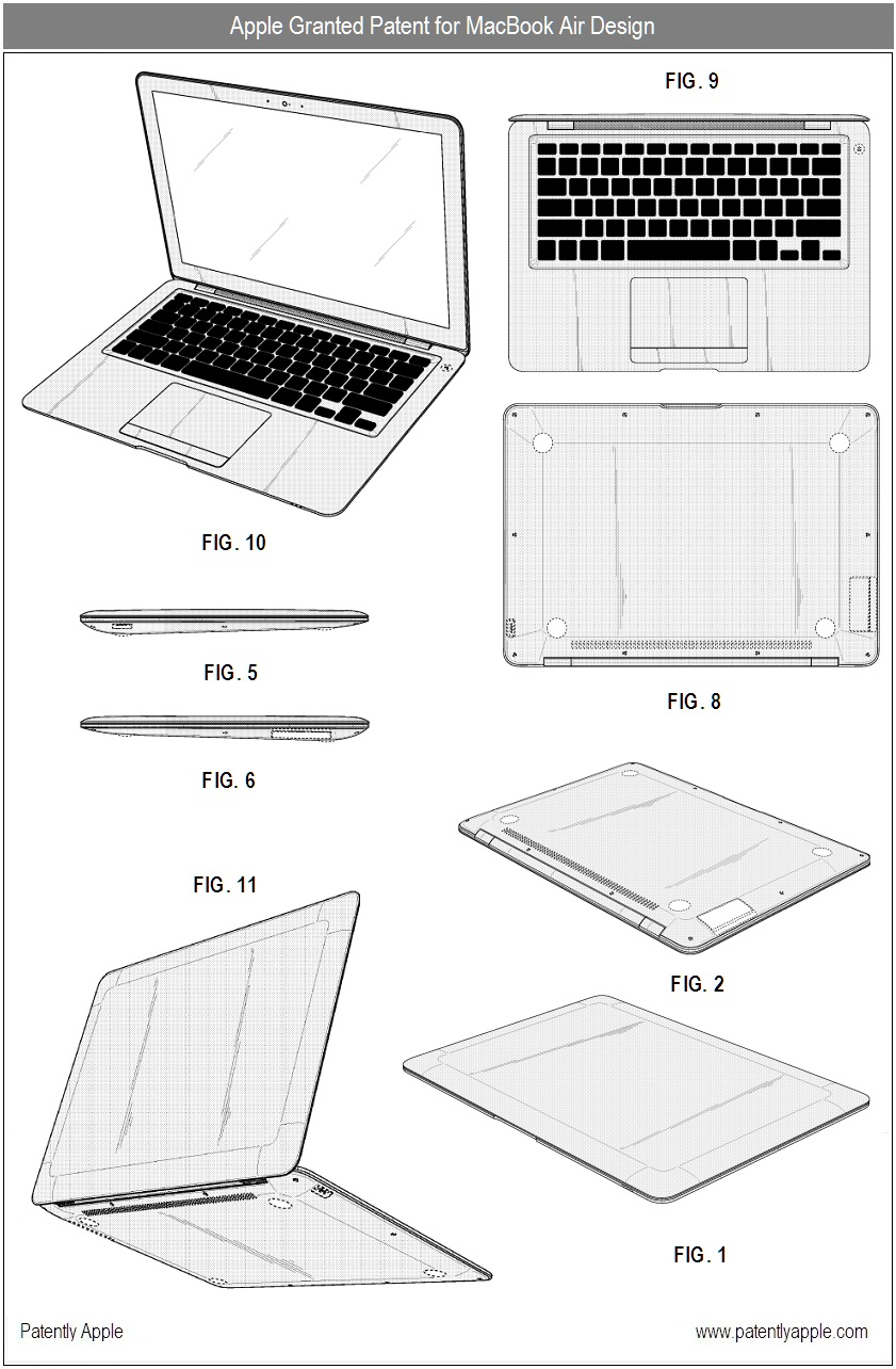 Patente de design do primeiro MacBook Air