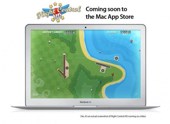 Flight Control HD na Mac App Store