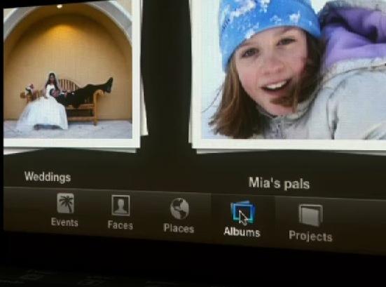 Botões do iPhoto 11
