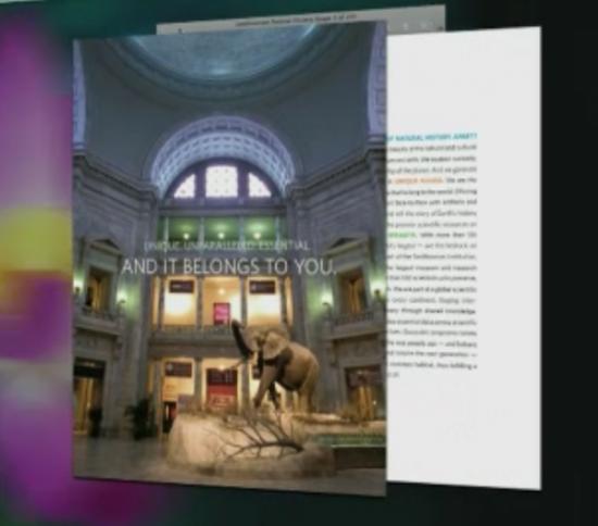 Animação de tela cheia do Lion