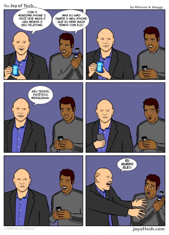 Joy of Tech - Vivendo a vida… invejando o iPhone