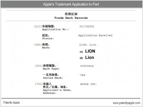 Registro da marca Lion