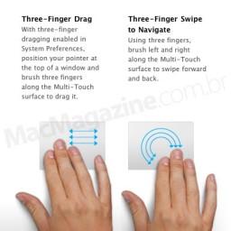 Three-finger gestures nos MacBooks Air