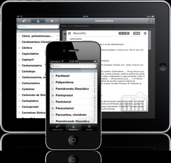 Bulas no iPad e no iPhone