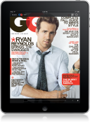 Capa da GQ no iPad