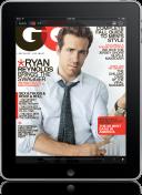 Capa da GQ no iPad