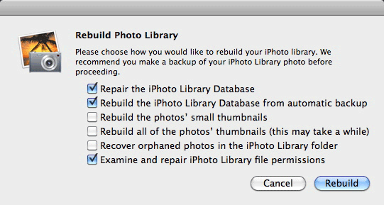 Reconstruindo biblioteca do iPhoto