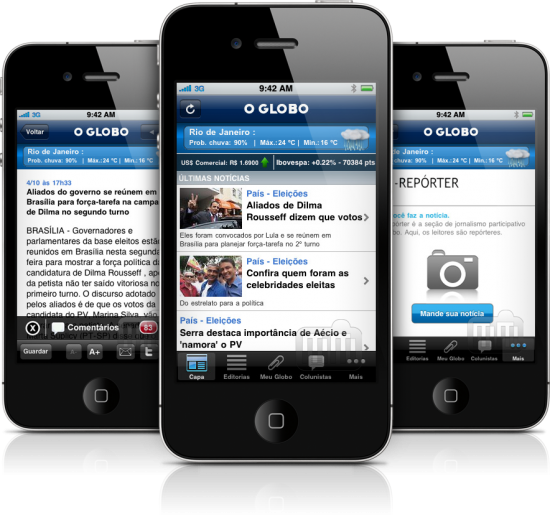 O Globo Notícias em iPhones