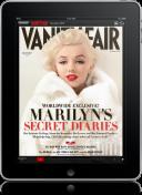 Capa da Vanity Fair no iPad
