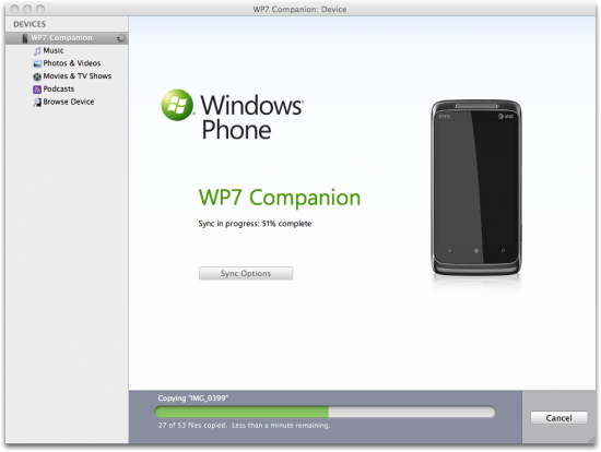 Windows Phone 7 Connector (for Mac) - Beta