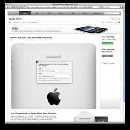 Gravação a laser em iPad