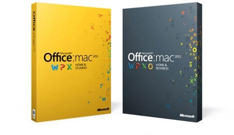 Caixas do Microsoft Office 2011 para Mac