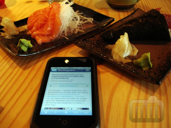 Restaurante Sushi Yuzu com iPads