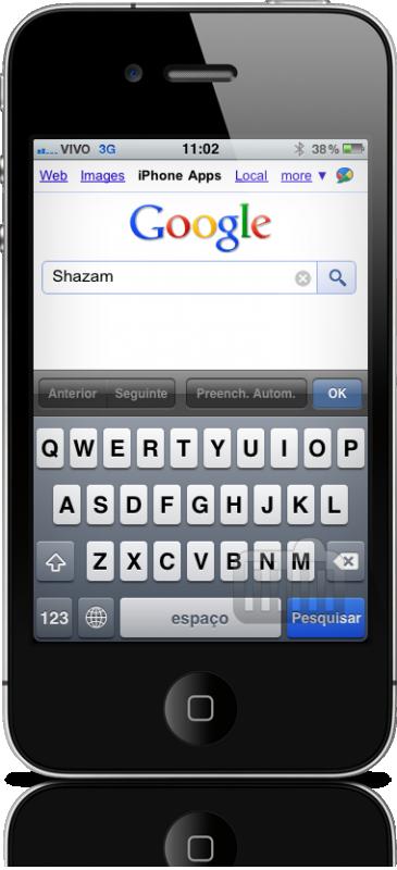Busca de apps no Google mobile