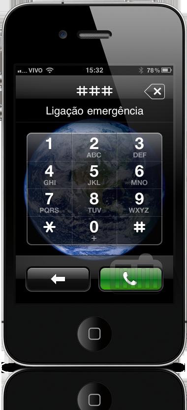 Ligação de emergência no iPhone