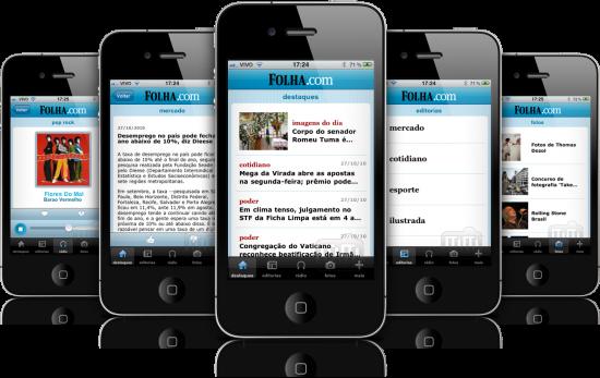 Folha.com em iPhones