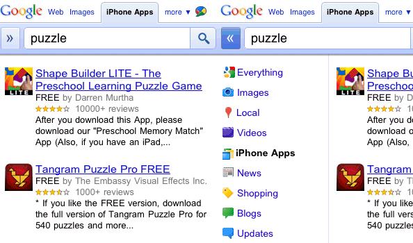 Busca de apps no Google
