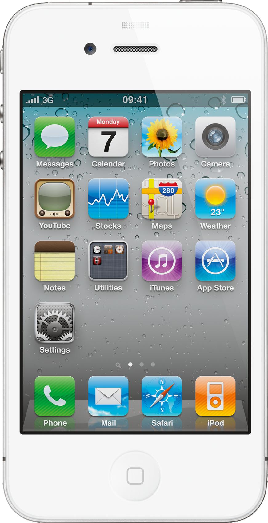 iPhone 4 branco grandão