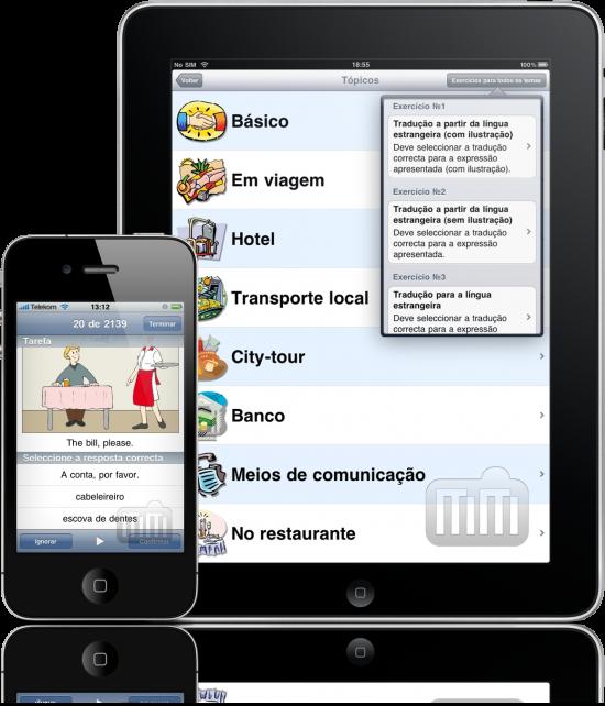 Professor de Línguas no iPad e no iPhone