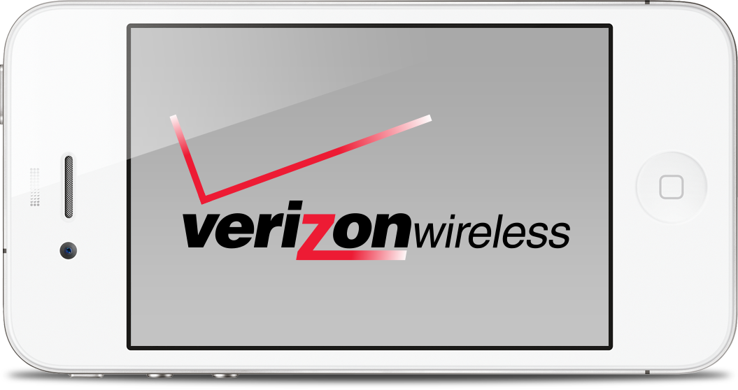 Verizon Wireless num iPhone 4 branco