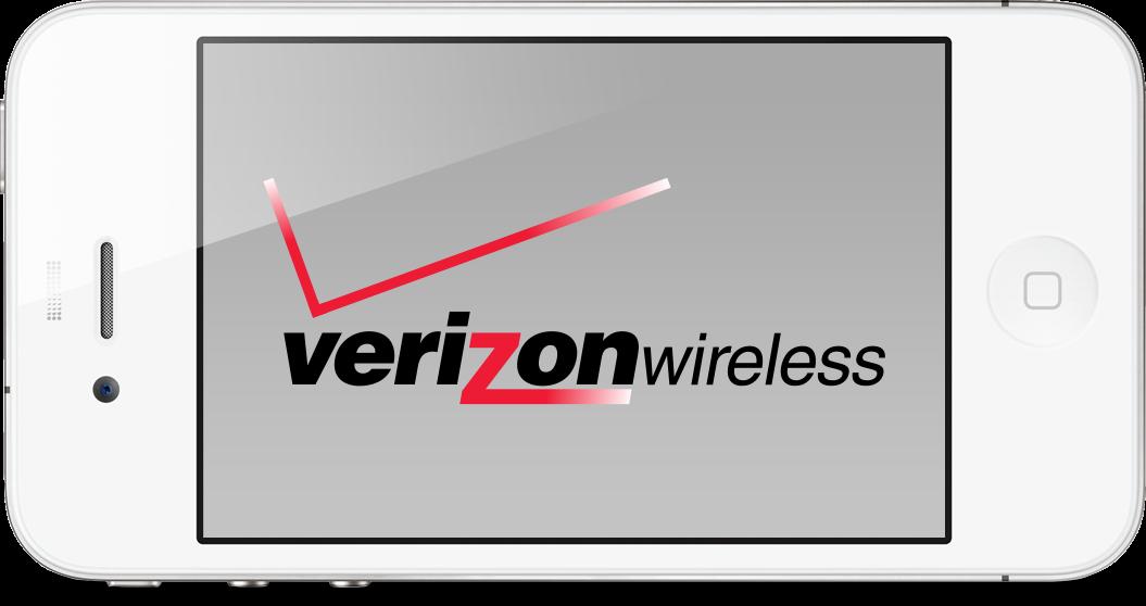 Verizon Wireless num iPhone 4 branco