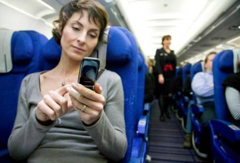 Uso de celulares em aviões