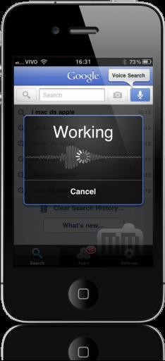 Google Mobile App no iPhone