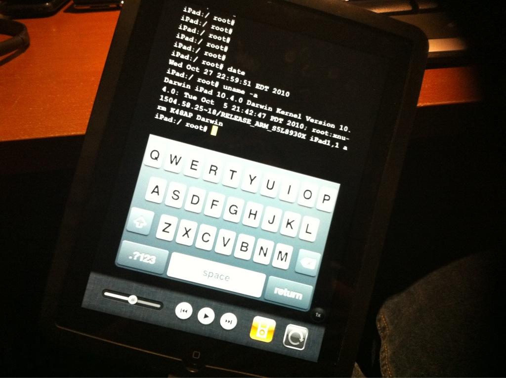 iPad jailbroken com iOS 4.2