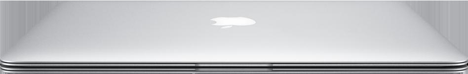MacBook Air de frente e fechado