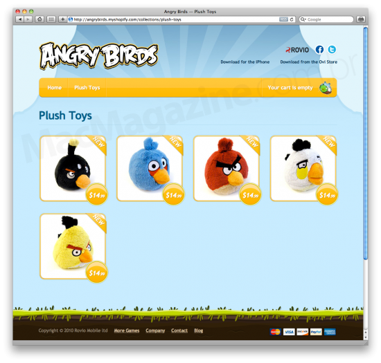 Bichinhos de pelúcia do Angry Birds