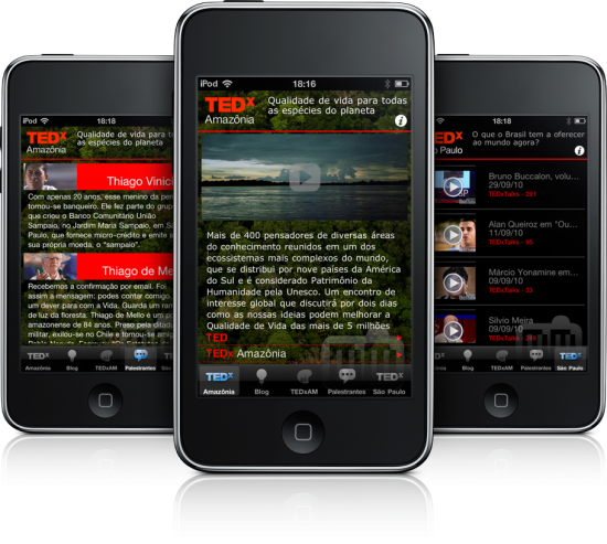TEDx Amazônia em iPods touch
