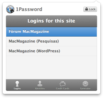 1Password para Chrome