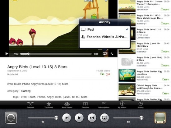 AirPlay no iOS 4.2 GM
