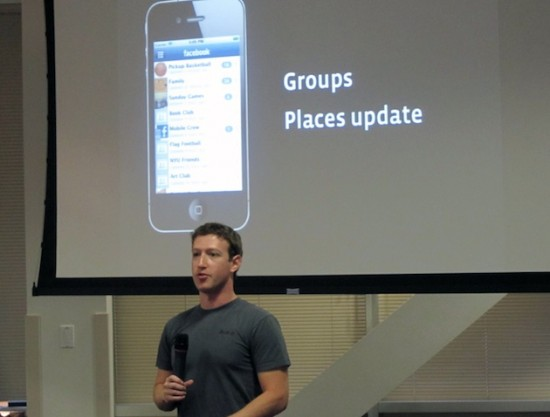 Mark Zuckerberg em evento mobile do Facebook
