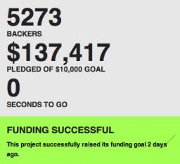 Arrecadação do Glif no Kickstarter